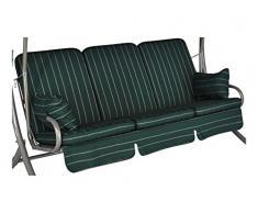 Angerer Exklusiv-Schaukelauflage 3-Sitzig Design Faro grün
