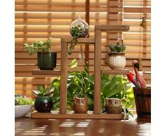 Pflanzentreppe Holz, Teckpeak Blumenregal Blumenständer Pflanztisch für Garten Terrasse Balkon