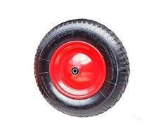 Schubkarrenrad Schubkarre Rad Luftrad Felge Rot 4.80/4.00-8 Achsbohrung: 20mm