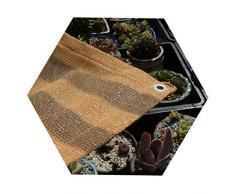 JDlept Sonnensegel, Rechteck Markisenüberdachung Außengarten Terrassenpflanze Swimmingpool 85% Beschattungsrate Sonnenschutz. (Color : Yellow Coffee Stripe, Size : 1.8m*1.8m)