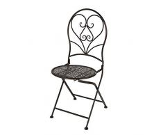 Gartenstuhl Stuhl Metall Braun L = ca. 40 cm H = ca. 90 cm