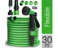 tillvex flexiSchlauch - flexibler Gartenschlauch 30m ausgedehnt