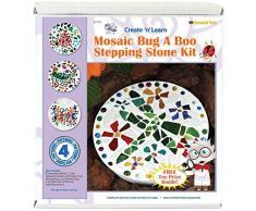 Diamond Tech Crafts Mosaik Trittstein kit-Bug A Boo, andere, Mehrfarbig