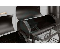 DRULINE 130kg Profi Smoker BBQ Grill Grillwagen Holzkohle 3-5mm Stahl Vertikal Haube