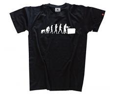 Shirtzshop Herren T-Shirt Heckenschneider Grünflächenpflege Gärtner Heckenschere Evolution, Schwarz, XL, ss-shop-evo_hecken-t