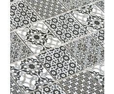Keramik Mosaikfliesen Daymion Retrooptik Blau Braun Wandverkleidung Badfliesen Bad Mosaikstein Natursteinfliesen Fu/ßbodenfliesen Dekorative Fliesen Dekor