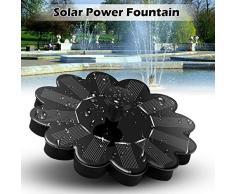 BonTime Solarbetriebener Brunnen, schwimmender Panel-Pool Solarenergie-Brunnen Gartenlandschaft Garten Teichbewässerung