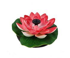 FairOnly Solarbetriebener Lotus-Form-Brunnen ohne Lampe Pfirsichblüte