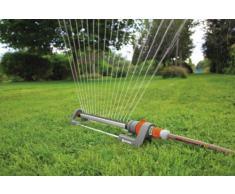 GARDENA Classic Viereckregner Polo 280: Rasensprenger für gleichmäßige Flächenbewässerung von 120 -280 m², Reichweite 8-18 m, Sprengweite max. 16 m, wartungsfrei dank Edelstahl-Schmutzsieb (2084-20)