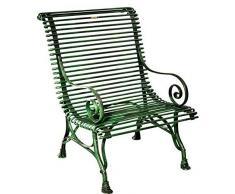 Casa Padrino Gartenstuhl aus Schmiedeeisen 63 cm x 45 cm x H98 cm Gartenmöbel, Farbe:grau