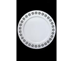 Marokkanischer Orientalischer Metall Beistelltisch Klapptisch Teetisch Tisch mit Tablett Samia 40cm (Weiss)