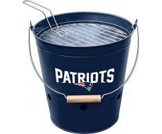 Imperial Offizielles Lizenzprodukt NFL Merchandise: Eimergrill, Unisex-Erwachsene, Officially Licensed NFL Merchandise: New England Patriots Bucket Grill, New England Patriots