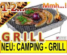 5 x Camping-Grill Minigrill Einmalgrill, EINWEGGRILL MIT 2,5 kg HOLZKOHLE + 1 x PREMIUM-HOLZWENDER + ZÜNDFOLIE FÜR SCHNELLES UND LANGES GRILLEN, CAMPINGGRILL mit Grillrost Edelstahl, Grill Holzkohlegrill Wegwerfgrill Sofortgrill