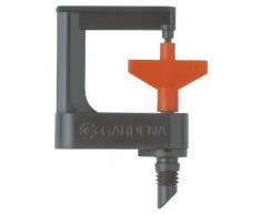 Gardena Micro-Drip-System Rotor-Sprühregner 360°: Rundum-Rasensprenkler, flächendeckend, regelbare Beregnung, Reichweite ca. 3.50 m, 2 Stück (1369-20)
