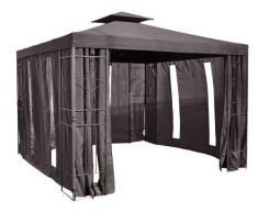 habeig Pavillon Seitenteile mit Fenster & Reißverschluß an jeder Seite Pavillion 4Stück (Anthrazit #38)