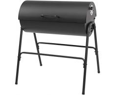 Holzkohlegrill Grillfass Milton von EL Fuego® Grill BBQ Grillwagen Barbecue AY 580