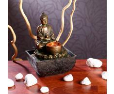 infactory Beleuchteter Zimmerbrunnen mit Buddha