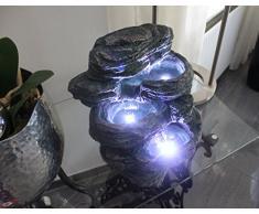 Springbrunnen Niagara mit LED Beleuchtung IN-&OUTDOOR Zimmerbrunnen Gartenbrunnen Luftbefeuchter