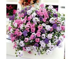 AIMADO Samen-50 Pcs Verbenen-Mix Samen,Überreiche Blüten in herrlichen Pastelltönen,Blumensamen mischung Bienenfreundlich für Balkon&Terrassenpflanze, Kübelpflanze