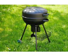 Kugelgrill Holzkohle BBQ Barbecue Grill Grillwagen