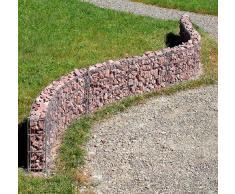 bellissa Mauergitter-Set für Gabionen - 95550 - Gabionen-Mauer, Steinkörbe längenverstellbar, erweiterbarer Bausatz - 232 x 10 x 40 cm