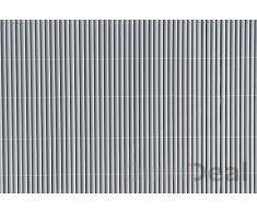 PVC Sichtschutzmatte 90x500cm Grau Windschutz Sichtschutz Doppelstabmatten Gartenzaun Terrasse Zaun NEU