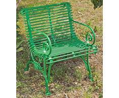 Casa Padrino Gartenstuhl aus Schmiedeeisen mit Krallenfüßen 65 cm x 60 cm Gartenmöbel, Farbe:grau