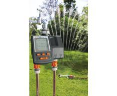 GARDENA Bewässerungscomputer MultiControl duo: Automatische Bewässerungssteuerung, Wochentage programmierbar, bis zu 3 Bewässerungen pro Tag, mit LC-Display (1874-20)