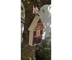 Eifa XXL 50 cm Insektenhotel Natur GR/ÜNES Dach//Nistkasten Insektenhaus aus Holz f/ür Bienen Schmetterlinge K/äfer /& andere Tiere