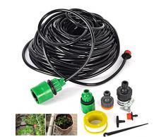 25 m 4/17,8 cm Schlauch/30 Wasserspender Sprinkleranlage Automatische Pflanzen Wasser Garten-Bewässerung-Set Garten-Drip Bewässerungssystem ^