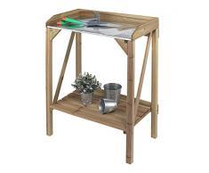 Pflanztisch Tannen-Holz Gartenpflanztisch Gärtnertisch Arbeitstisch 87x70 Metall
