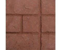 @tec Betonform Schalungsform Gießform Polypropylen (Kunststoff) - Terrassenplatte/Gehwegplatte - Kacheloptik Mediteran - 30 x 30 x 3 cm