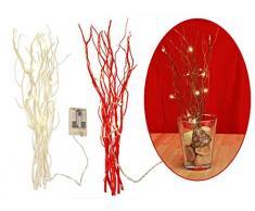 Gravidus dekorative Lichterzweige mit 12 warmweißen LED´s, ca. 40 cm (Beige)