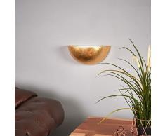 Wandlampe Gesa dimmbar (Modern) in Messing aus Gips/Ton u.a. für Wohnzimmer & Esszimmer (1 flammig, E14, A++) von Lampenwelt | Wandfluter, Wandleuchte, Wohnzimmerlampe