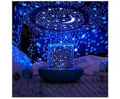 HDZWW Beruhigende Aurora LED Nachtlicht Projektor Sterne Sternenhimmel LED Nachtlicht Projektor Remote Moon Lampe USB Kinder Mädchen Geschenke Kinder Schlafzimmer Lampe 3D Lava Lampe (Color : Black)