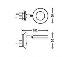 AGL Steckerleuchte, Leselampe, matt-nickel. 4 Watt