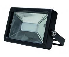 Kopp LED Wand-Fluter 20 Watt wasserdicht nach IP65 für feste Montage I LED-Fluter I Leistungsstarker LED-Baustrahler I Anschraubbarer LED-Spot für Außen-Bereich & Innen-Bereich I Anthrazit – 216520015