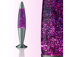 Lavalampe lila Violett Glitterleuchte Jenny E14 25W inklusive Leuchtmittel Geschenk Weihnachten Retro Leuchte Glitzer Stimmungslicht