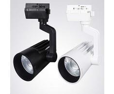 Schienenleuchte LED COB Spotleuchte Innenleuchte Lampe für Schienensystem für Phasen Schiene Shop Ausstellungshalle Hotel Dekorative Light Iron [Energieklasse A+],24W