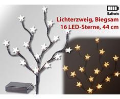 Lunartec LED Zweig: LED-Lichterzweig mit 16 leuchtenden Sternen, 44 cm, batteriebetrieben (LED-Knospenzweig, leuchtend)