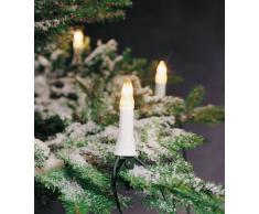 Konstsmide 1999-000 Baumkette mit weißen Topbirnen/für Außen (IP44) / 230V Außen / 25 klare Birnen/grünes Kabel