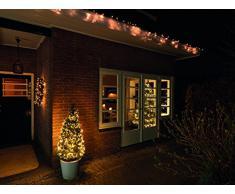Kaemingk LED-Vorhang 2 x 1 m, aussen, Aussentrafo, 120 warmweiße LED, schwarzes Kabel 494288