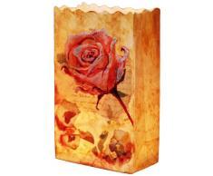 LUMINARIA 8525500 Lichtertüte Blumenfreude Rose - 4-teilig, Windlicht, Papier, 9 x 26 x 15 cm, Mehrfarbig