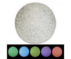 Leuchtkugel LED Kugel Lampe mit Farbwechsel Licht Stimmungskugel inkl. Batterien, Größen:Ø 18cm