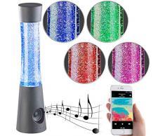Lunartec Glitter-Lavalampe: Tornado-Lampe mit Lautsprecher, RGB-LEDs, Glitzer, Bluetooth & AUX-In (Dekolampen LED)