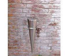 Fackel Wandfackel Bodenfackel Gartenfackel Feuerfackel Cylinder komplett aus Edelstahl im Srm-Design/Höhe: 65cm Durchmesser oben: 28,5 cm/inklusive Zubehör