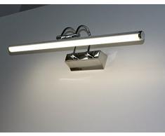 LED Wandleuchte Spiegellampe / Mod. LOOK-7 / Chrom neutralweiß 4000K Bildleuchte Wandlampe Badleuchte Schranklampe Aufbauleuchte Spiegelleuchte Möbelbeleuchtung Vitrinenbeleuchtung Schrankbeleuchtung