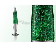 Lavalampe grün/Glitterleuchte/Jenny / E14 25W / inklusive Leuchtmittel/Geschenk Weihnachten/Retro Leuchte Glitzer/Stimmungslicht