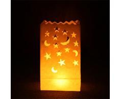 Night Sky Lanterns Lichttüten, Sterne und Monde, 10 Stück