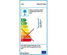 LED Außenwandleuchte Aluminiumdruckguß | Hausnummernleuchte mit Kunststoffabdeckung in silber